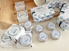 Los jabones y labiales naturales y artesanales de la #boda de Mireia y Jon. Elaborados con mucho esmero y envueltos uno a uno, con #packaging personalizado. Porque, para nosotros, cada #evento es único y especial.