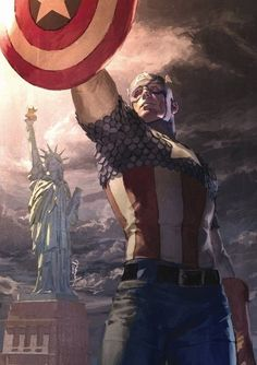 Wow. Hello, Captain America.
