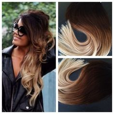 5 Star Ombre Balayage Cuticle Remy Hum5 Star Auburn Ombre Tape-in Seamless weft Hair Extensions 40pcs on Etsy, $259.99