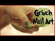 Nail Art for Christmas: THE GRINCH! via #cutepolish on youtube