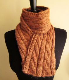 Luxurious Hand Knit Cabels Scarf