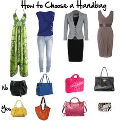 For all those people who thought they could get buy with one bag! 3 Easy Steps to Choosing the Right Handbag – Casual or Formal | Inside Out Style