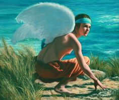 Icarus prepares for flight oil on linen . Figure Painting, Painting & Drawing, Greece Art, Realistic Paintings, Artist Life, Australian Artists, Ancient Greece, Contemporary Paintings, Artsy