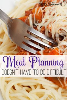 Interested in trying meal planning but not sure if you have the time or patience? Meal planning doesn't have to be difficult! See how easy and beneficial it can be here.