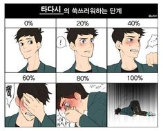 Metros sonrojo de Tadashi - me encanta el 100% uno. ja ja ja!!!