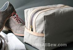 How to Make a Zippered Travel Pouch for Dad