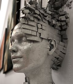 Dissolution of Ego by PETER GRIC. (via PETER GRIC | 13 Dissolution of Ego 3D-Concept.jpg)  More 3D art here.