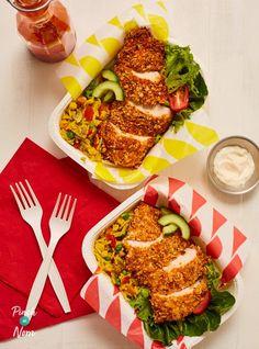KFC Rice Box - Pinch Of Nom Healthy Crockpot Recipes, Healthy Eating Recipes, Low Calorie Recipes, Vegetarian Recipes, Cooking Recipes, Healthy Chef, Healthy Smoothies, Slimmers World Recipes, Rice Box