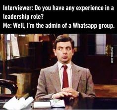 It's a very fast-paced, diverse group. I've learn a lot.  @9gagmobile  #9gag #leadership #mrbean