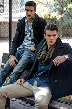 adam-nyc:  Chris Delbeck and Julian Jaring shot by photographer Nacer Paul