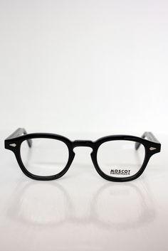 Black Acetate Eyeglasses, by Moscot Lemtosh. Men's Spring Summer Fashion.