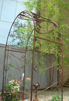 Wrought Iron Garden Arbor, Round Criss Cross Metal Arch For Your Garden |  Arbors | Pinterest | Garden Arbours, Arbors And Wrought Iron