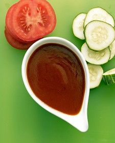 French dressing on mixed greens, sliced vegetables, such as tomatoes and cucumbers, or drizzled on baked fish.