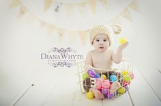 easter bunny baby photography www.DianaWhytePhotography.com
