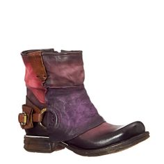 Purple leather ankle boots from Airstep. Love them!