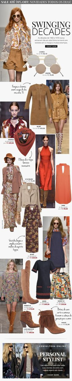 OQVestir | Fashion | Mailer | Newsletter | 60s and 70s | Trends