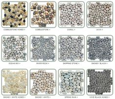 bathroom floor Stone Pebble Tiles                                                                                                                                                     More
