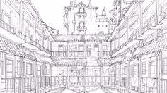 benditlikekorra:   Ba Sing Se background designs in Book 3 of The Legend of Korra  [x]