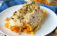 Pumpkin Cannelloni With Almond Sauce [Vegan, Gluten-Free]