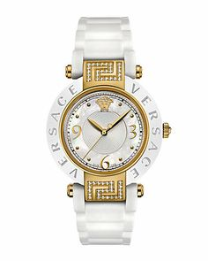 """Some of you have to get in on this: Versace Women's """"Reve"""" Diamond Watch"""