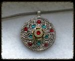 Southwestern look pendant~one of a kind @ www.ohshoothandmade.com