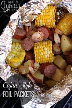 Cajun-Style Grill Foil Packets are perfect for a summer party or camping.