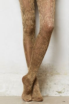 Antique Scroll Tights - anthropologie.eu