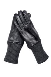 Part Two Afinna Leather Gloves - Black