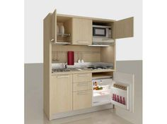 Mini cocina de chapada en madera Colección Zeus by MOBILSPAZIO Contract