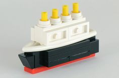 Micro Titanic - I wonder how hard it would be to make a Lego Monopoly Game...this reminds me of the ship playing piece.