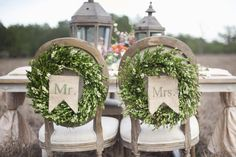Wedding chair decorations for your special day.