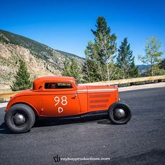 More from the #HotRodHillClimb ! Are you living these photos or what? #HotRods running up a beautiful mountain pass too cool.