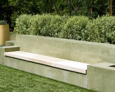 Concrete Wall and pour in seating