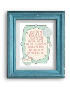 Now I Lay Me Prayer Print Digital by WhitehallShop on Etsy