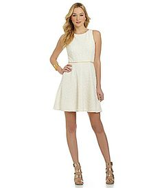 Vince Camuto Boucle FitandFlare Dress #Dillards