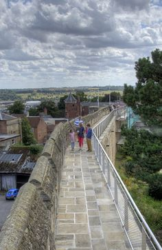 On the walls of Lincoln Castle
