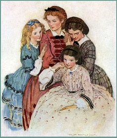 Vintage Little Women Illustration--Jessie W. Smith