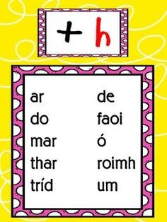 Ag úsáid Réamhfhocail na Gaeilge // Using Prepositions in Irish Class Displays, Classroom Displays, Gaelic Words, Abc Crafts, Literacy And Numeracy, Irish Language, 5th Class, Scottish Gaelic, Wreck This Journal