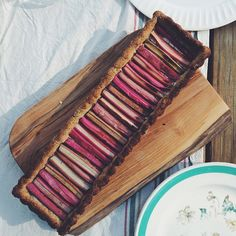Simple Rhubarb Tart-- recipe in the Nothing in the House archives