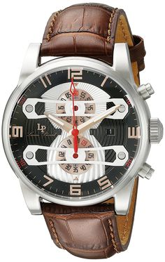 Lucien Piccard Watches Bosphorus Chronograph Leather Band Watch >>> You can get more details by clicking on the image. Mens Watches Leather, Leather Men, Lucien Piccard, Cool Watches, Men's Watches, Leather Watch Bands, Luxury Watches For Men, Audemars Piguet, Breitling