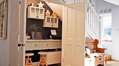 If you are short on space for a home office, no worries There are plenty of ways to wedge a workspace into your kitchen, under the stairs, or even onto a wall. Here's how to make to it happen.  http://www.realtor.com/advice/home-improvement/best-furniture-for-your-home-office/  #homeoffice #interiordesign