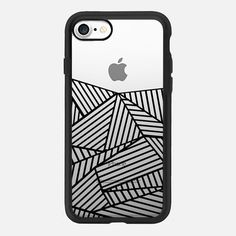 Ab Lines Black Transparent 2 -  #casetifyiphone7 #iphone7 #geometric #abstract #phonecase