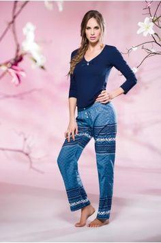 Pijama Pantalón Largo Capri Pants, Fashion, Babydoll Sheep, Athletic Wear, Underwear, Pants, Sports, Moda, Capri Trousers