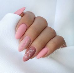 Chic Pink Easter Nails nails 61 Easy and Simple Easter Nail Art Designs Easter Nail Designs, Easter Nail Art, Nail Art Designs, Nails Design, Henna Designs, Cute Nails, Pretty Nails, My Nails, Oval Nails