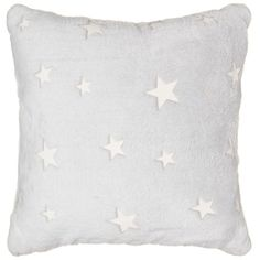 Switch off the lights and relax with this amazing Glow in the Dark Cushion! On-trend design features supersoft exterior, perfect for cuddling into - B&M. Black And White Living Room, Star Cushion, Credit Card Statement, Soft Furnishings, Design Trends, The Darkest, Glow, Cushions, Nursery