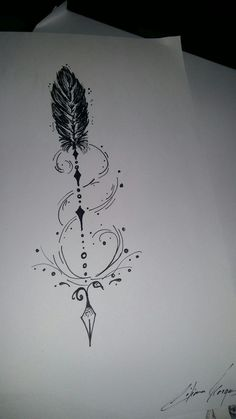 ,You can find Arrow tattoo design and more on our website. Tattoo Girls, Girl Tattoos, Cat Tattoos, Friend Tattoos, Spine Tattoos, Body Art Tattoos, Small Tattoos, Ankle Tattoo, I Tattoo