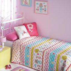 Colcha ifantil Mouse  Colcha para decorar la habitación infantil de una niña. #colchainfantil #colchaniña