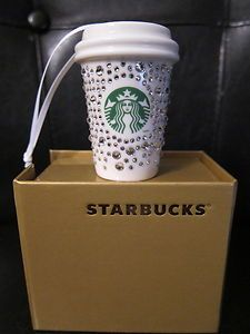 """Gotta find a replcement for the """"our first Christmas"""" ornament...lol  New 2012 Starbucks Swarovski Crystal Christmas Ornament"""