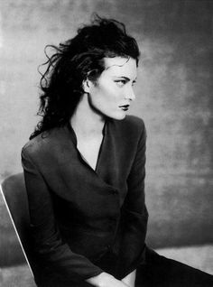 Shalom Harlow photographed by Paolo Roversi for Giorgio Armani