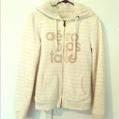 🎉FREE WITH PURCHASE Aeropostale zip hoodie Very soft fur on the inside. So comfy! Small stain on right arm as shown 🎉free with purchase! Just comment below and I'll ship it Aeropostale Jackets & Coats